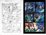Mega Man 22 pg15  pencil and colors