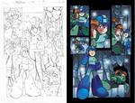 Mega Man 22 pg16 pencil and colors