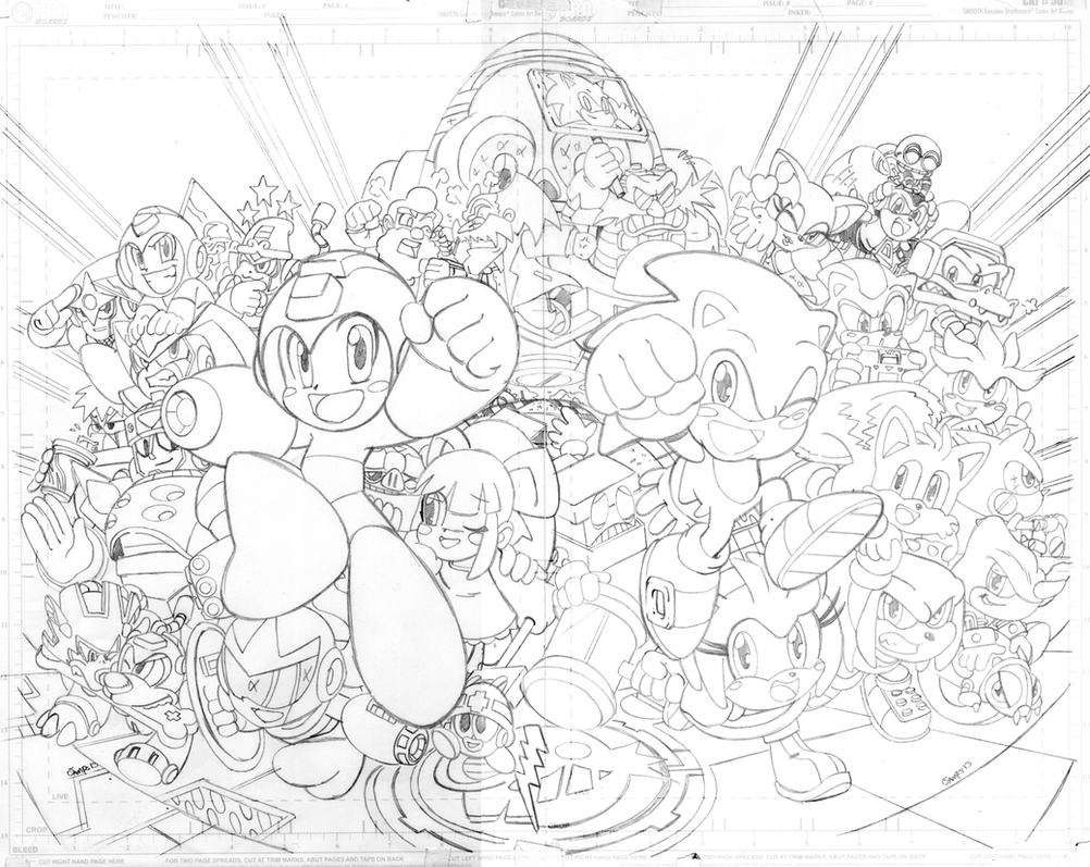 Sonic 250 variant cover by RyanJampole