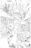 Mega Man 28 cover pencils by RyanJampole