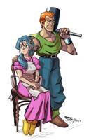 Lara and Taban Chrono Trigger Collab by RyanJampole