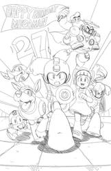Mega Man 27th Birthday pencils