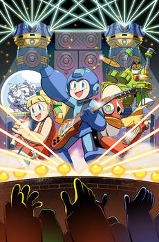 Mega Man issue 55 ROCKMAN variant cover