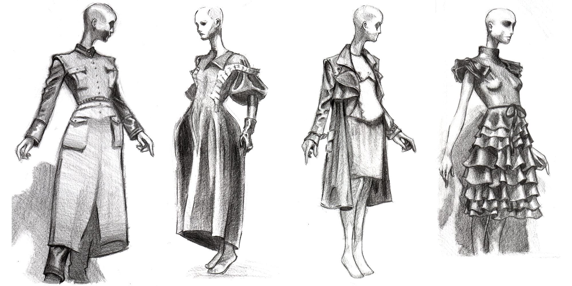Fashion Sketches by RyanJampole on DeviantArt