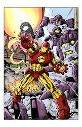 IRONMANvsSENTINELS Colors by Ric2014 by GustavoGimenez