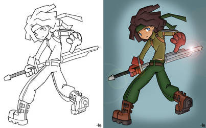line fighter Cell Shading By Ric 2014 by GustavoGimenez