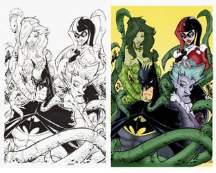 Batman and friends by rantz Colors byRic2014 by GustavoGimenez
