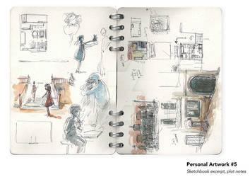 Sheridan Animation Portfolio Sketchbook Excerpt #2