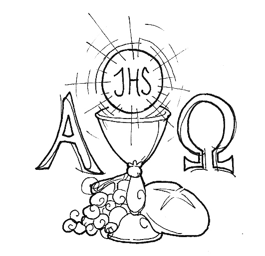 monstrance coloring page - eucharist by deednoxious on deviantart