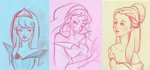Disney girls sketch