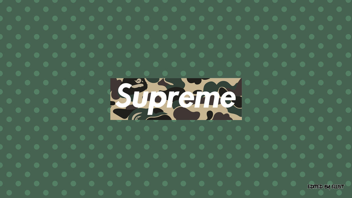 Supreme X Bape Wallpaper 1920x1080 700885236 on bape cartoon wallpapers 1080x1080