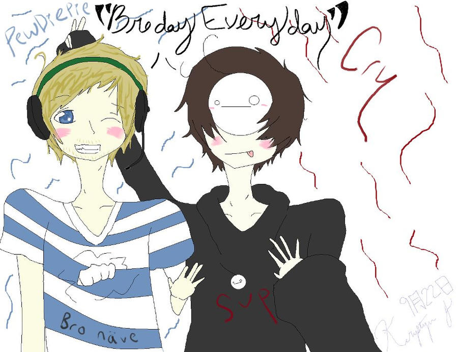 PewDiePie and Cry BrodayEveryday by MiyoMew on DeviantArt