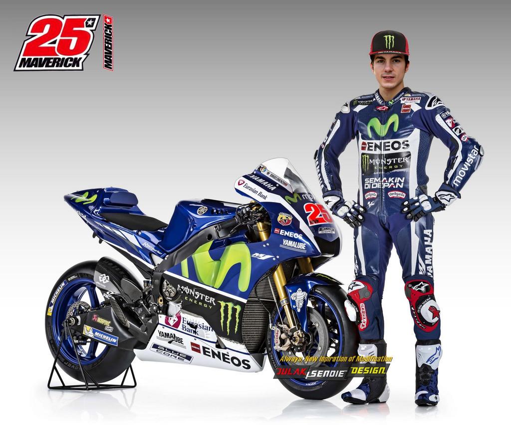 Maverick Vinales @ Yamaha Movistar MotoGP Team2017 By