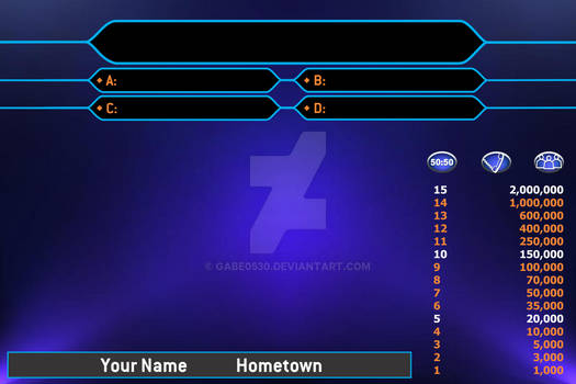 Who Wants To Be A Millionaire Contestant Screen