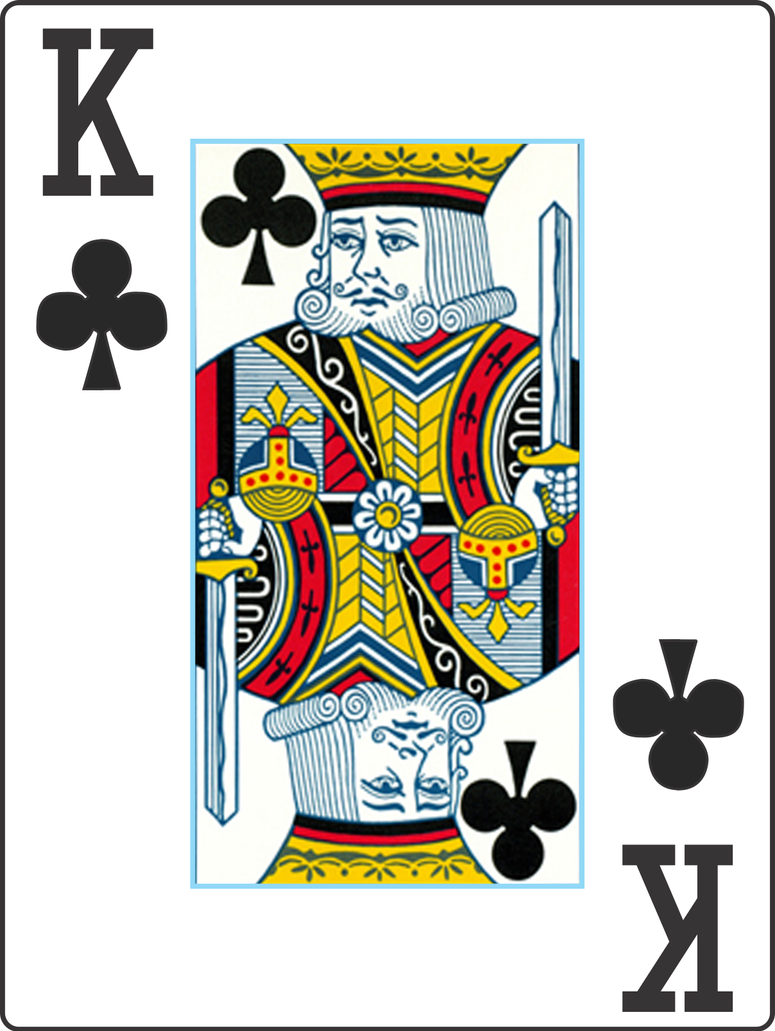 my playing cards v2 king of clubs by gabe0530 on deviantart