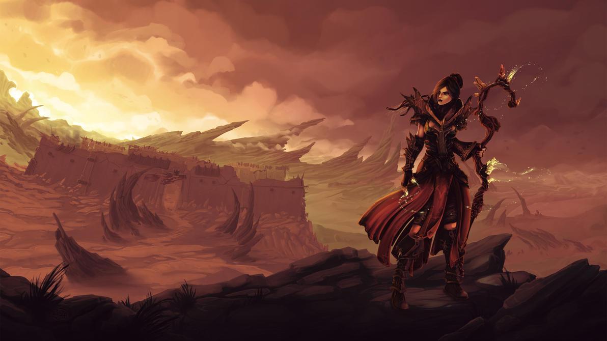 Diablo III Sorceress - Aelya by Vexod14