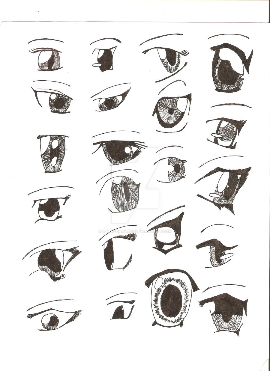 Eine geile anime girl eyes those