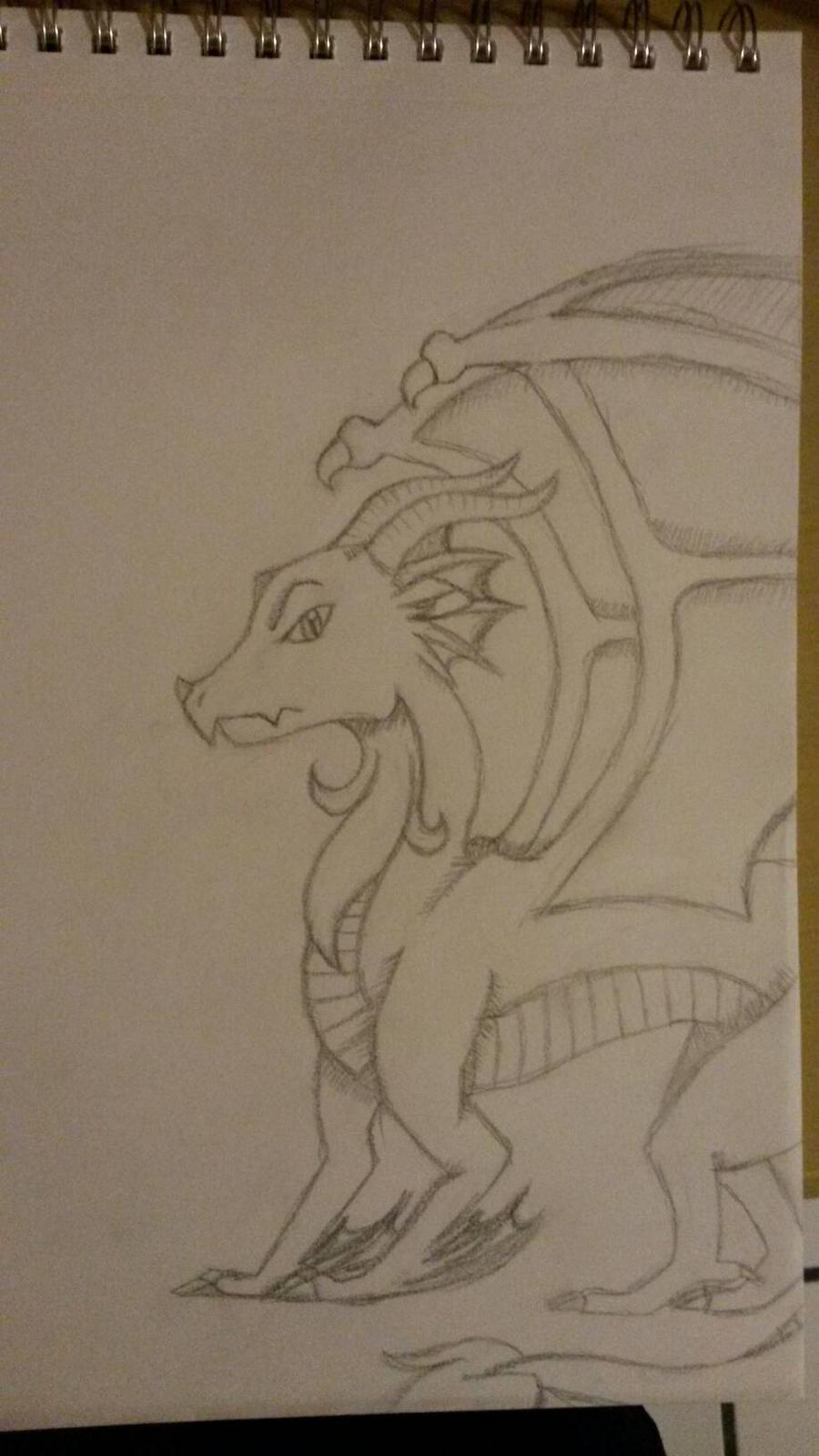 just a dragon. by Silversan-Art