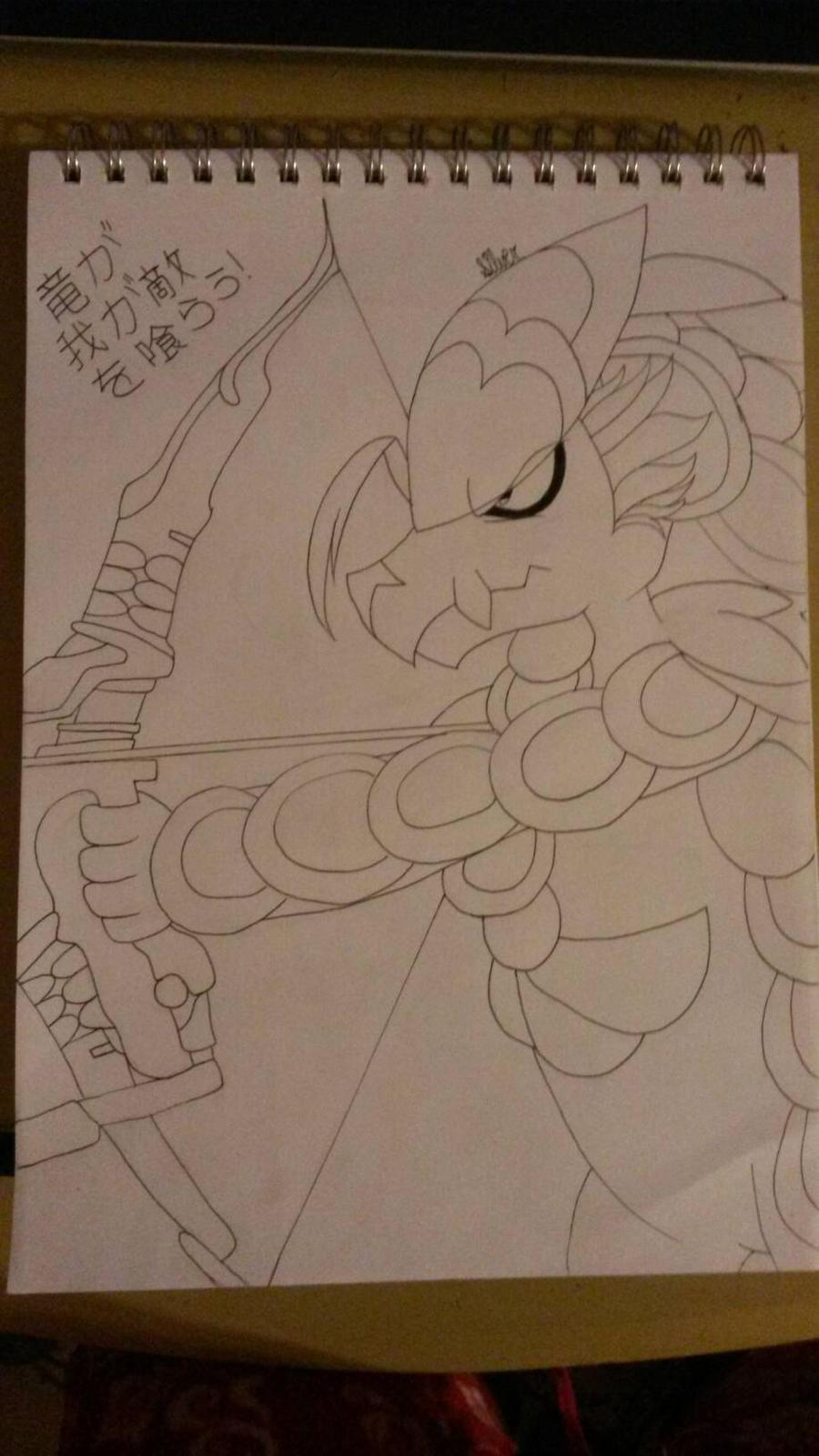 Kommo-o/Hanzo Fusion by Silversan-Art