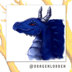 Haaku - dragon of my old friend by dragenlorden