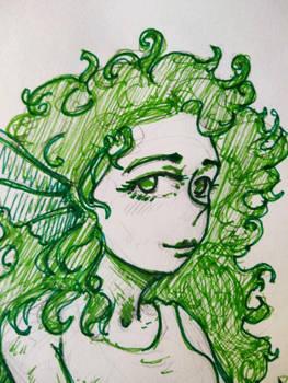 Mermaid portrait by liners
