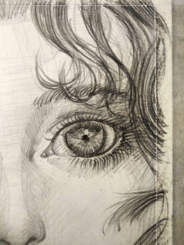 Girl's eye - pencil drawing