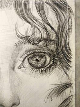 Girl's eye - pencil drawing