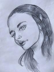 Pencil girl portrait