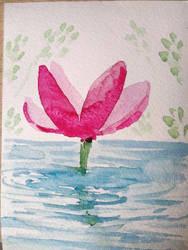 Watercolor painting sketch