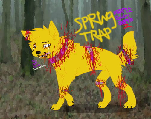 Purple guy s death 2 spring trap by gravecrauler45 on deviantart