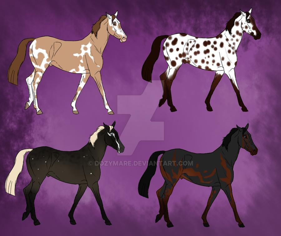 Natural Horse Adopts -1 LEFT by Kawisaurus