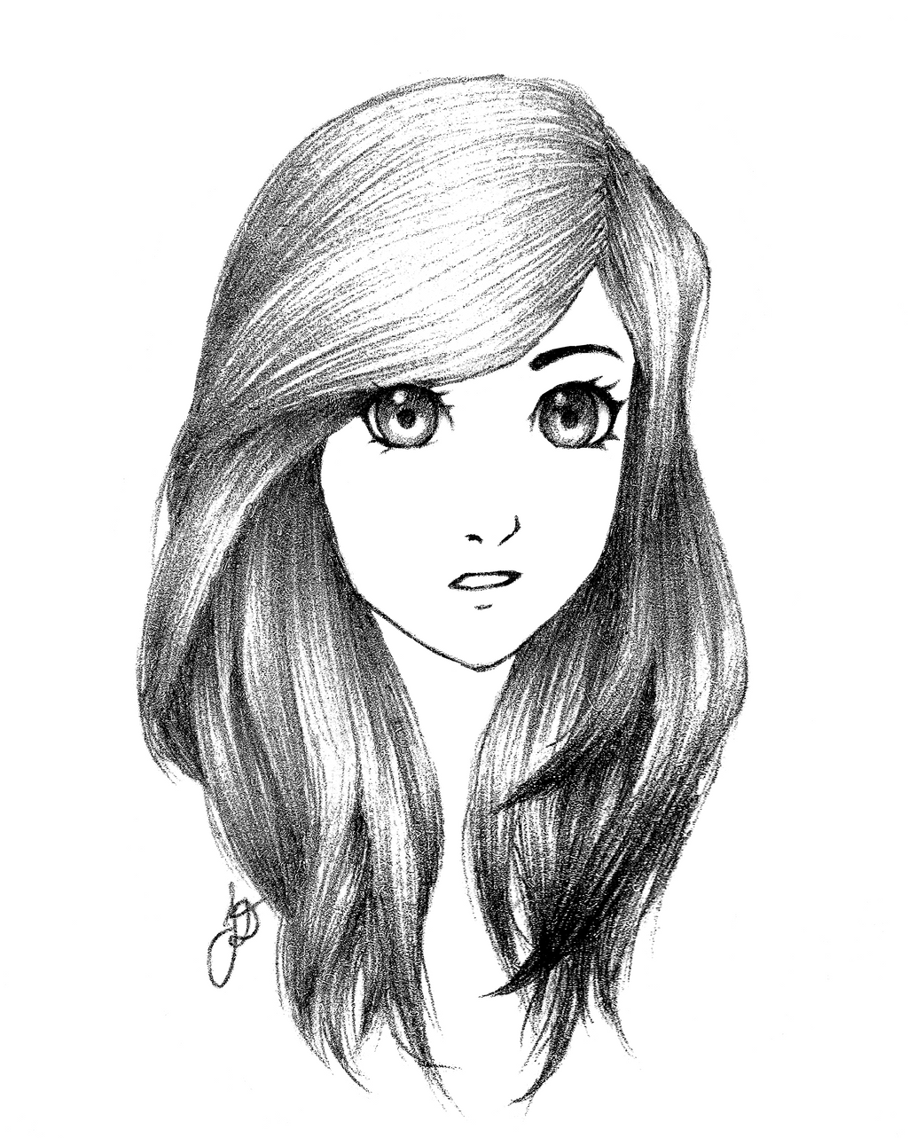 Girl Sketch   Best Wallpapers HD Collection