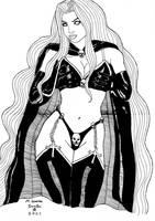 Lady Death - Comic Art Ink by mssantosartist