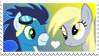 Soarin' x Derpy Hooves Stamp by Mario-Wolfe