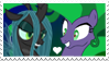 Queen Chrysalis x Mane-iac Stamp by Mario-Wolfe