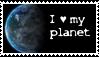 I love Earth stamp