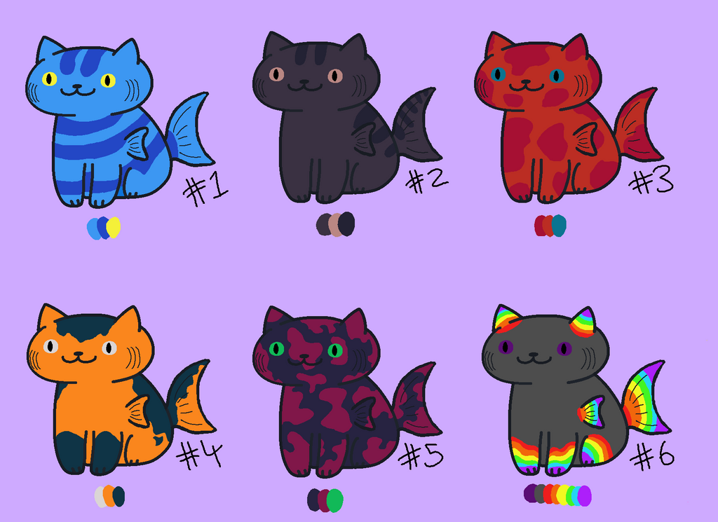 Cat adopt 7 fish open by limpingpictures on deviantart for Adopt a fish
