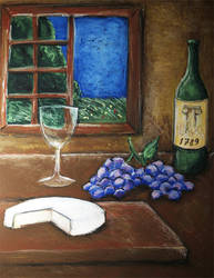 empty glass of vine, 2007-2008