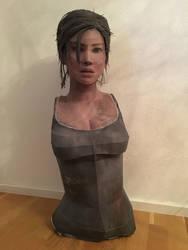 Life Size Lara Croft Papercraft WIP by giden445