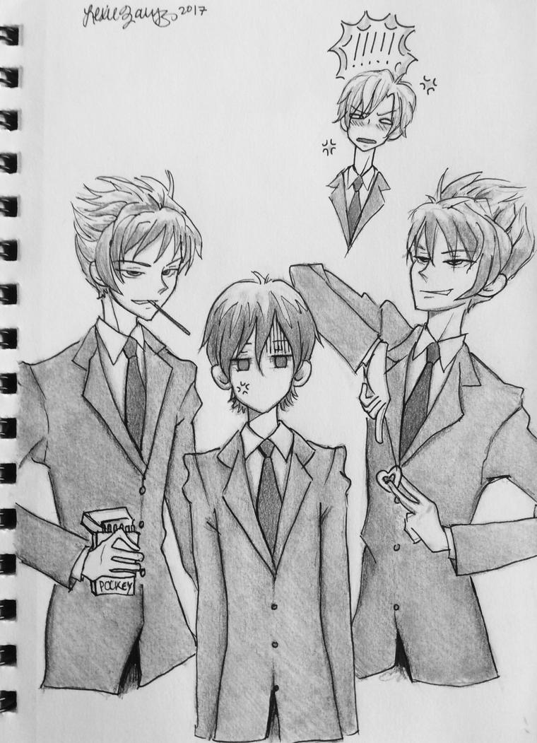 the twins flirt with haruhi ft. jealous tamaki by princesszoggles