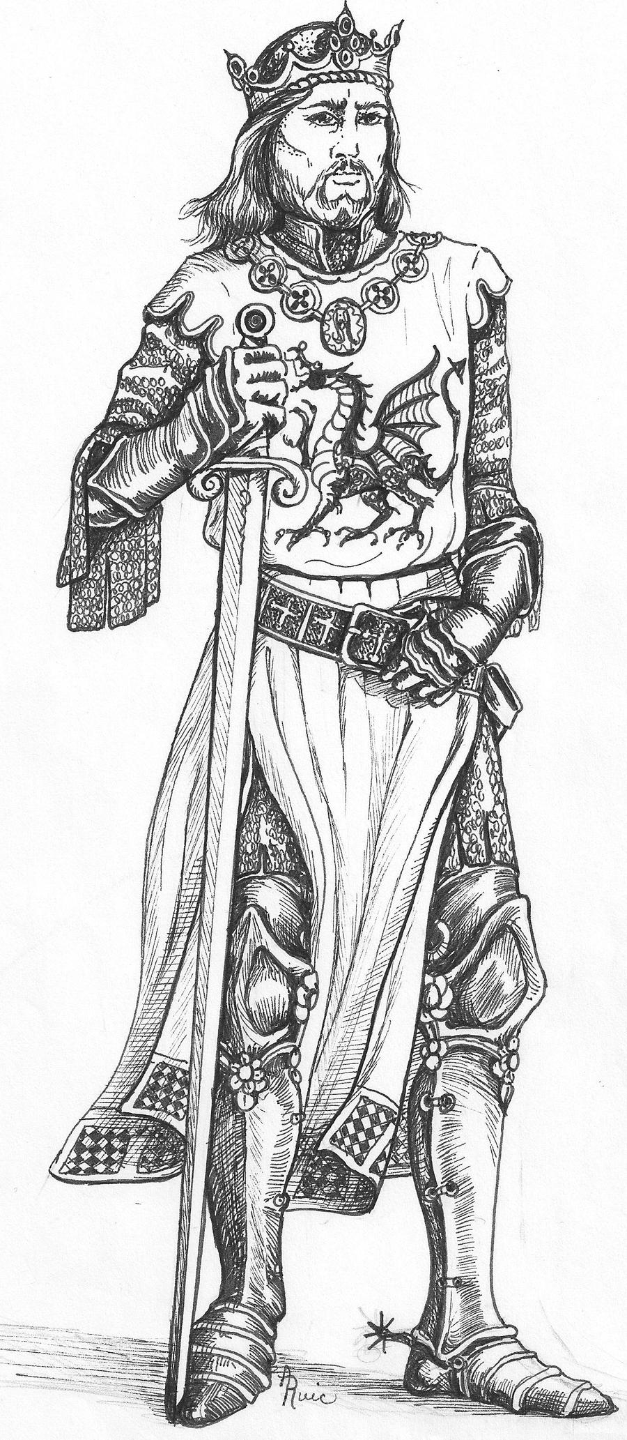This is an image of Epic Drawing Of Medieval King
