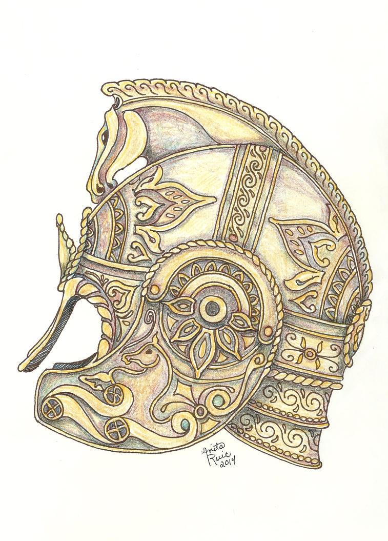 Horsemen helmet by AnitaBurnevik