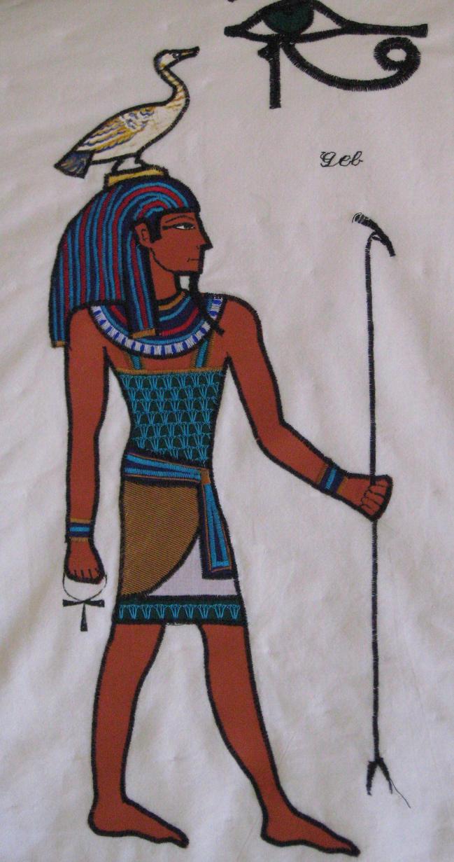 PANEL FROM EGYPTIAN QUILT #2 by AnitaBurnevik