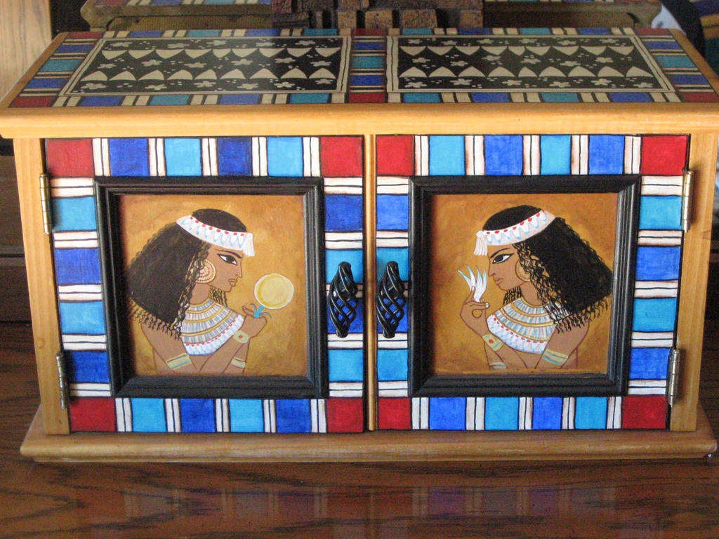 EGYPTIAN PAINTED BOX by AnitaBurnevik