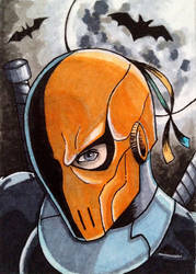 Deathstroke Sketch Card by BooDoesArt