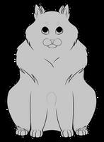 [Lineart] Fluffy Cat by AlexDama