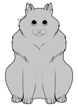 [Lineart] Fluffy Cat