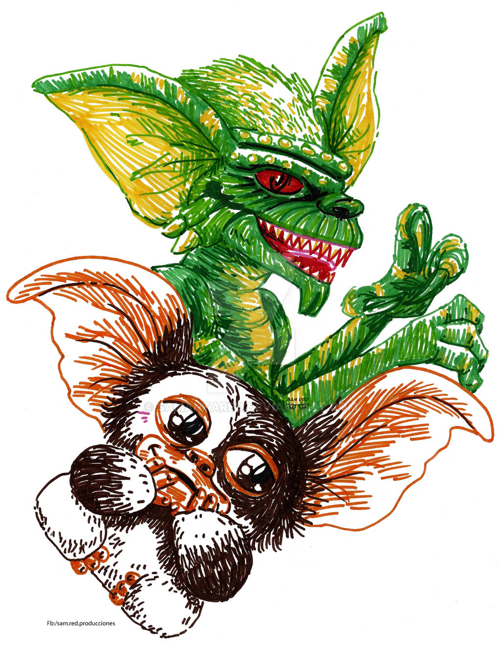 gremlins fan art by samantared on deviantart