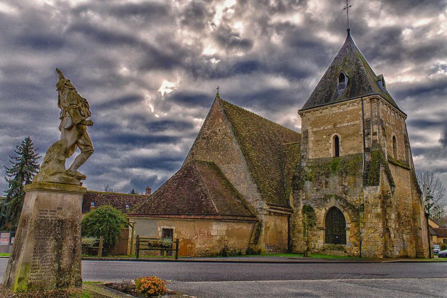 Veteran facing his Faith  Preaux des Perches Orne by hubert61