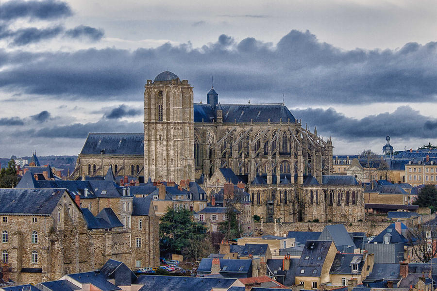 Cathedral in Le Mans Sarthe  France by hubert61